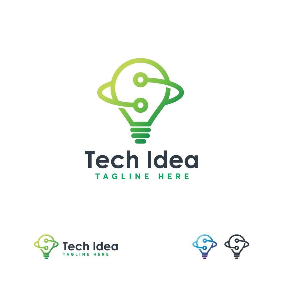 tech idee logo ontwerpen concept vector, gloeilamp met draad logo ontwerpen vector