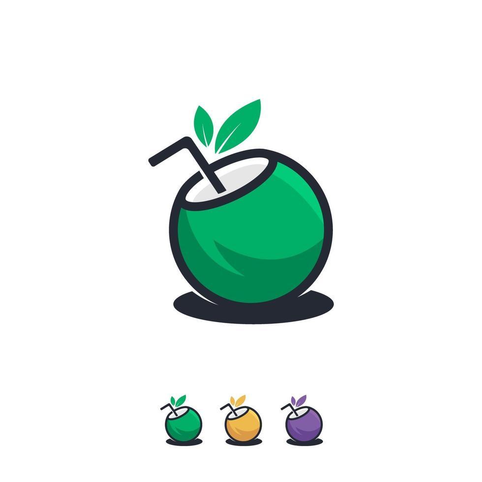 kokosnoot drankje pictogram ontwerpen concept vector, zomer sjabloon pictogram vector