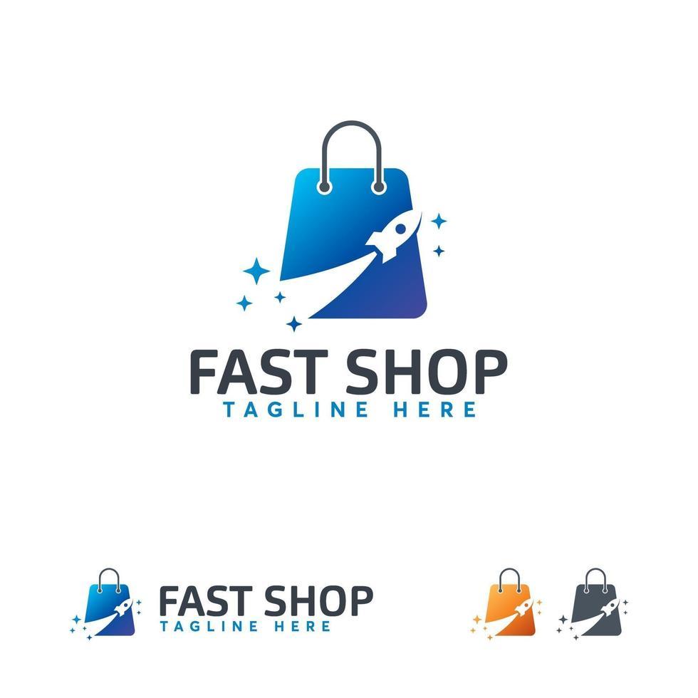 snelle winkel logo ontwerpen vector, raket verkoop logo symbool vector