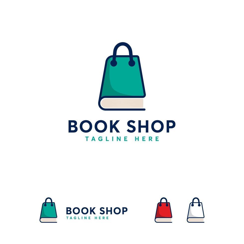 boekwinkel logo ontwerpen sjabloon, boekwinkel logo symbool concept vector