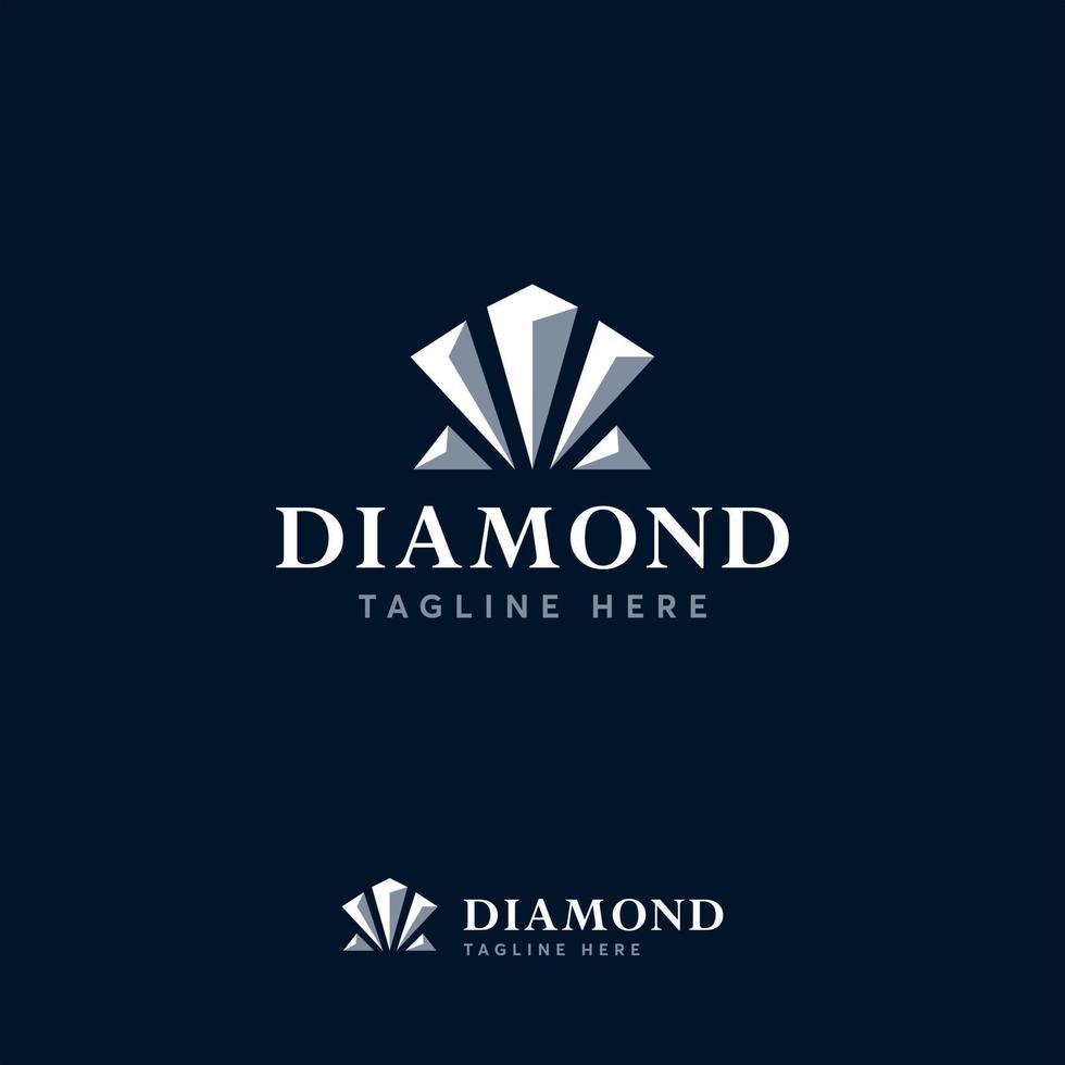 diamant logo ontwerpen sjabloon, sieraden logo symbool vector