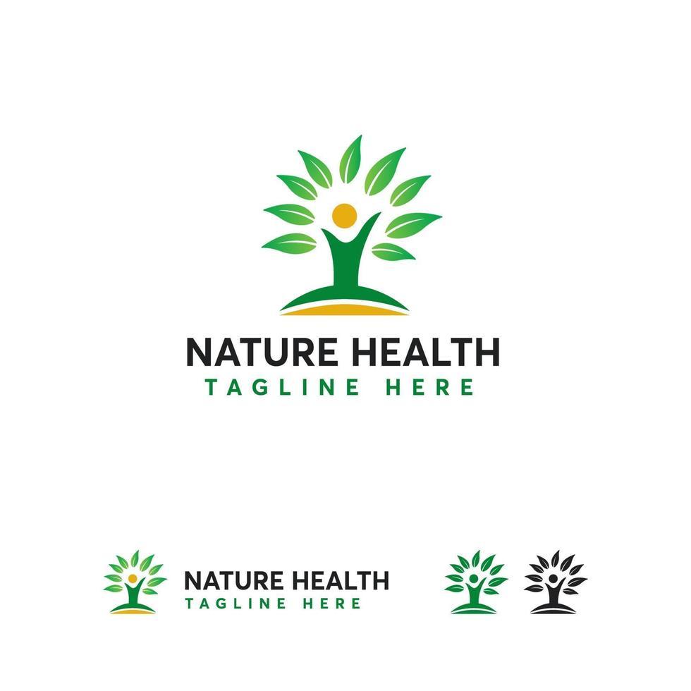 natuur gezondheid logo ontwerpen concept vector, boom plant logo symbool vector