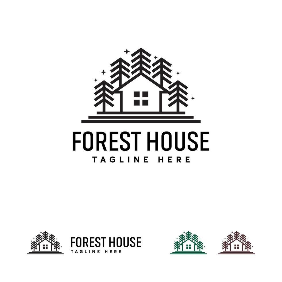 natuur huis logo ontwerpen concept, vers huis logo symbool, gebouw logo vector