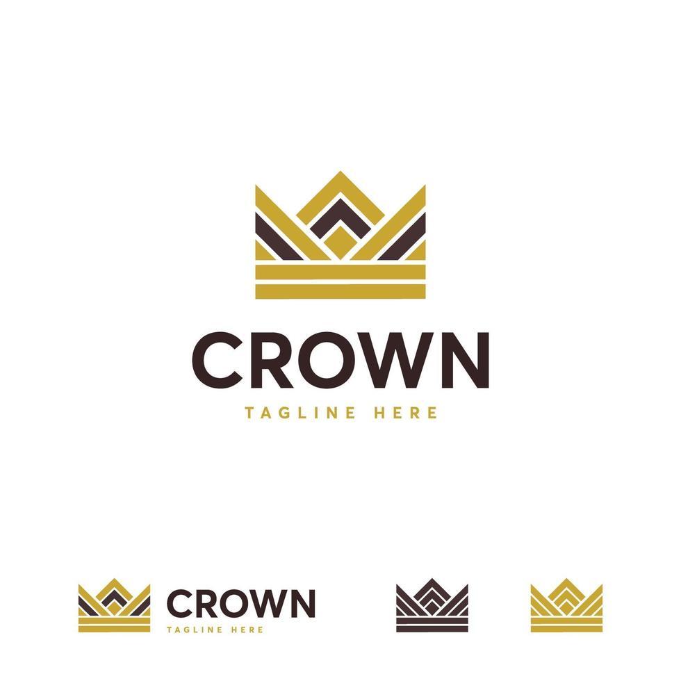 kroon logo ontwerpen concept vector, koning mode logo symbool vector