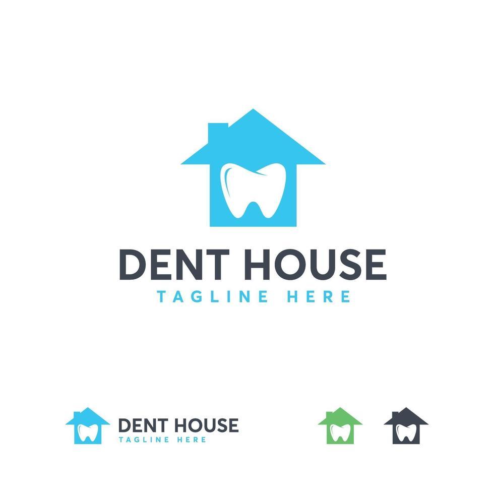 tandheelkundige huis logo ontwerpen vector, tandheelkundige logo symbool vector