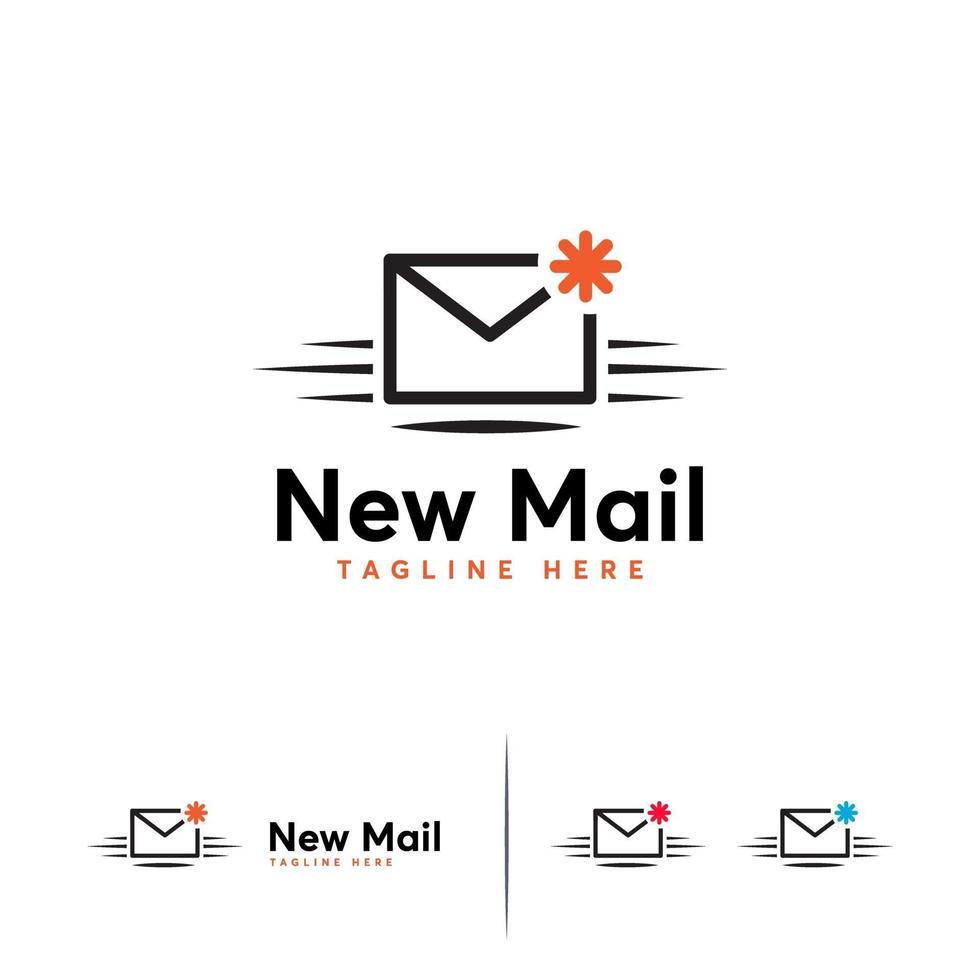 nieuwe mail logo ontwerpen sjabloon, bericht logo symbool vector