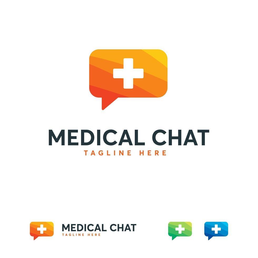 medisch raadplegen logo ontwerpen concept vector, arts raadplegen logo pictogram vector