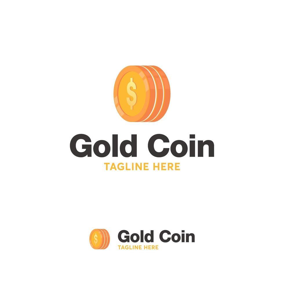 gouden munt logo ontwerpen concept vector, geld logo sjabloon vector