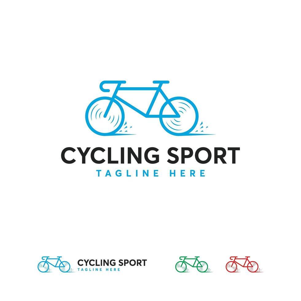 wielersport logo ontwerpen sjabloon, snelle fiets logo sjabloon vector