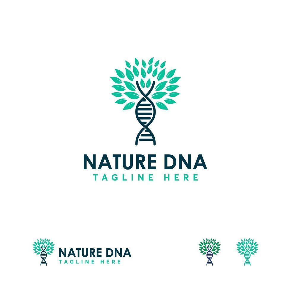 ontwerp medische dna helix logo sjabloon, natuur dna logo sjabloon vector