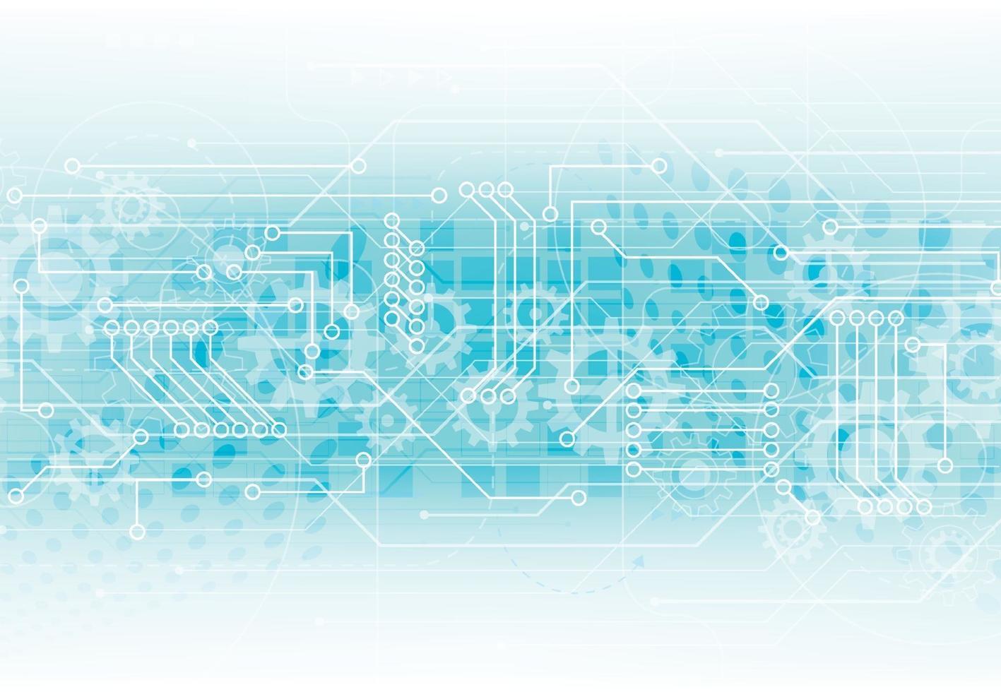 abstracte achtergrond met technologie printplaat textuur. elektronische moederbord illustratie. communicatie- en engineeringconcept. vector illustratie