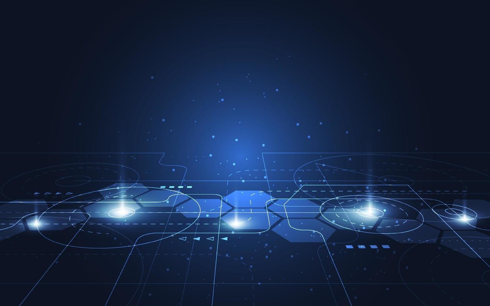 abstracte technologie punt en lijn verbinding digitale hi-tech ontwerp concept achtergrond. ruimte voor tekst. vector illustratie