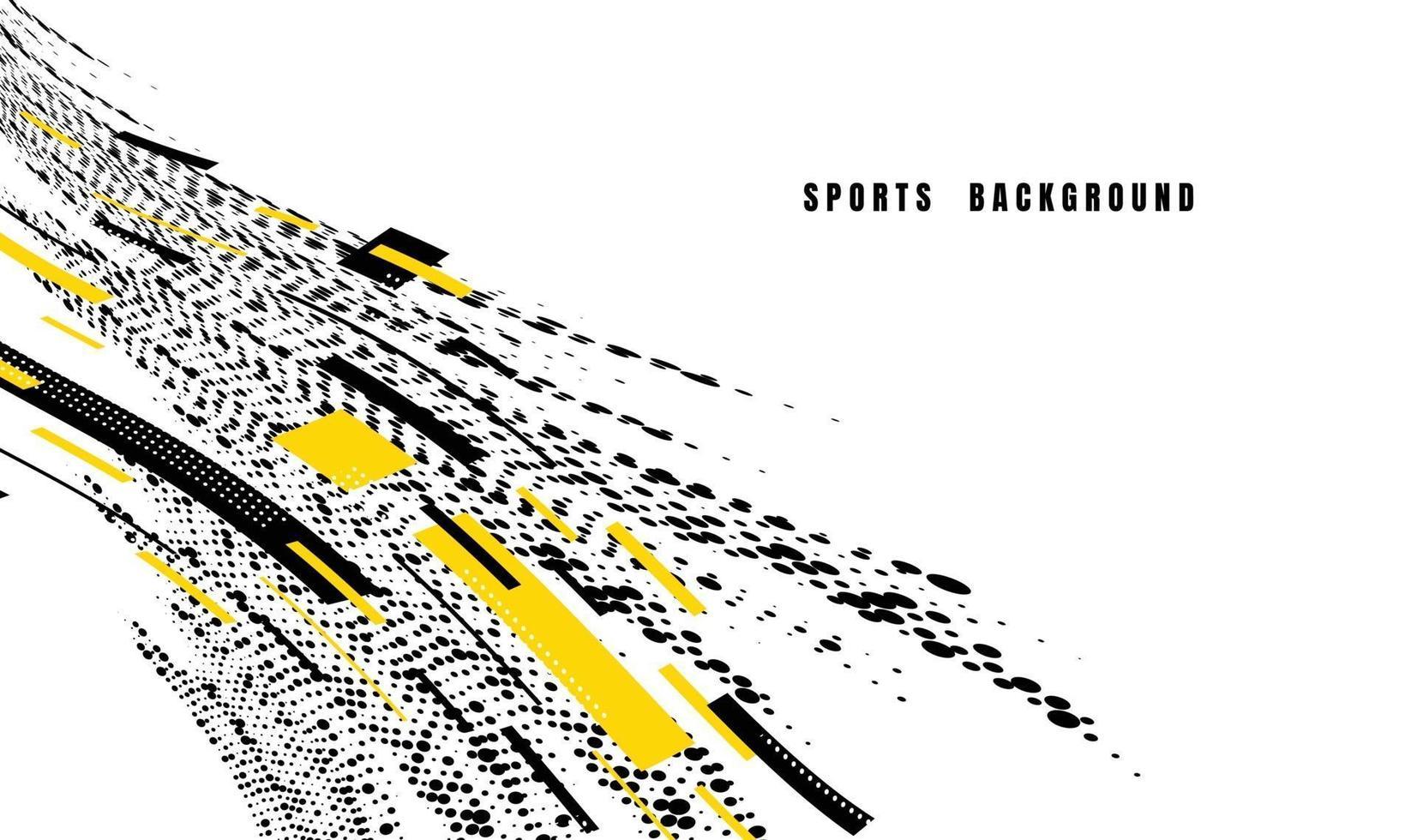 abstracte kleurrijke kunst voor sportachtergrond. dynamische deeltjes. modern wetenschap en technologie-element met lijnontwerp. vector illustratie