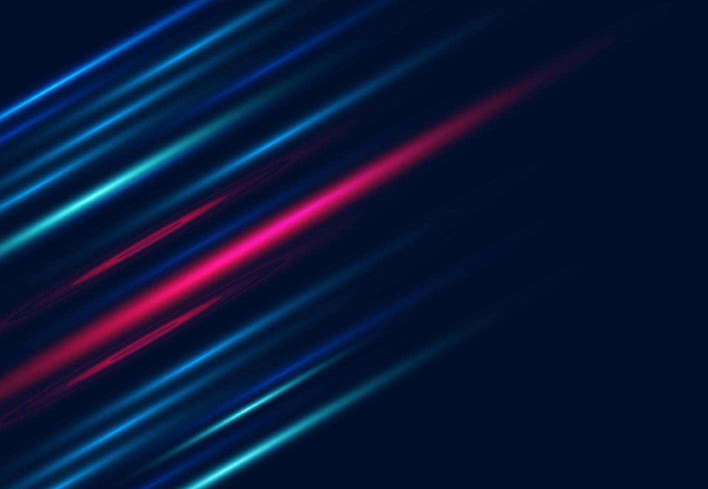 abstracte dynamische lijn en donkere achtergrond. snelheid bewegingsontwerp voor visitekaartje, omslag, banner, flyer. vector illustratie