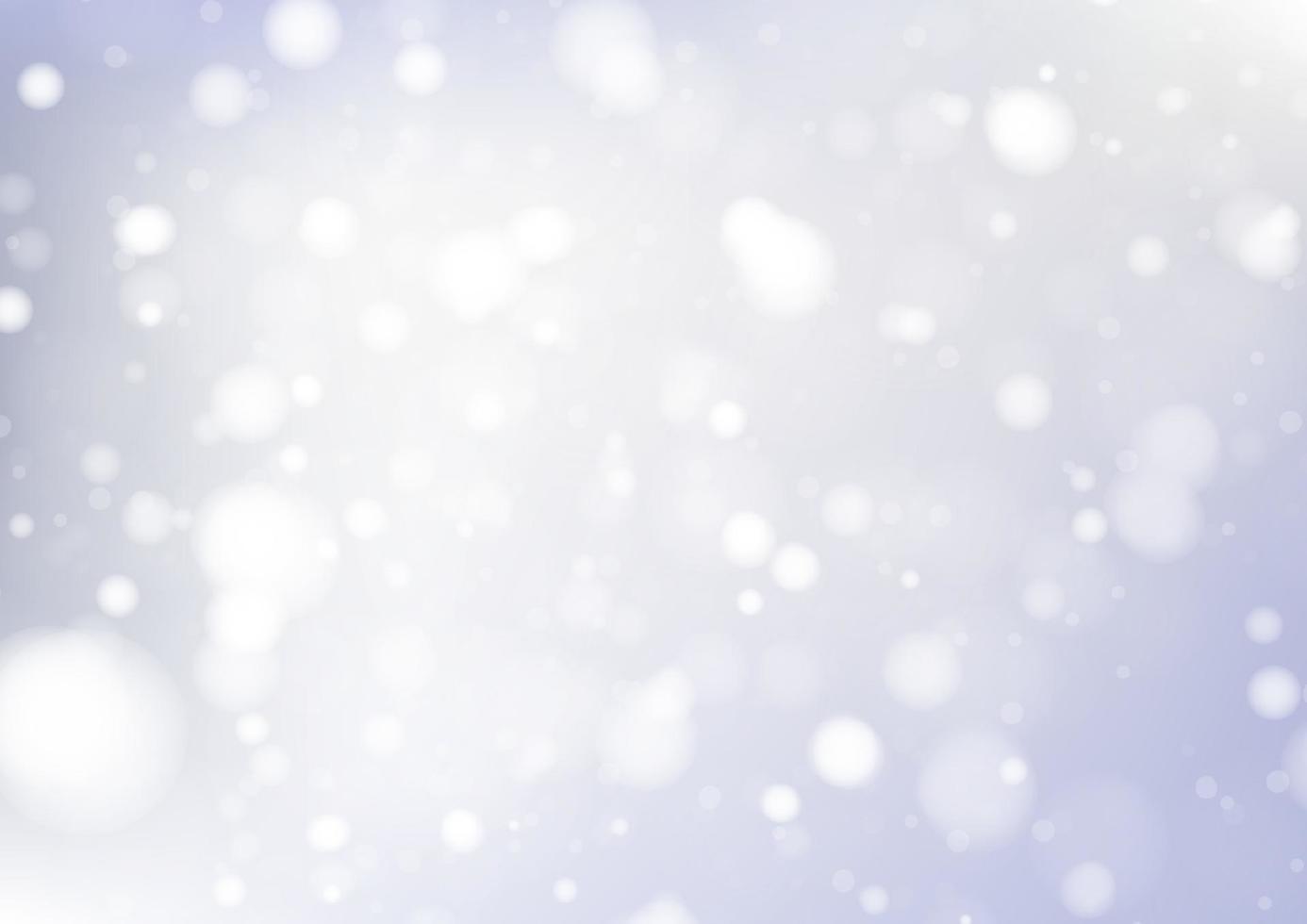 vrolijk kerstfeest achtergrond met witte bokeh lichten voor vakantie poster, banner, kaart. vector illustratie