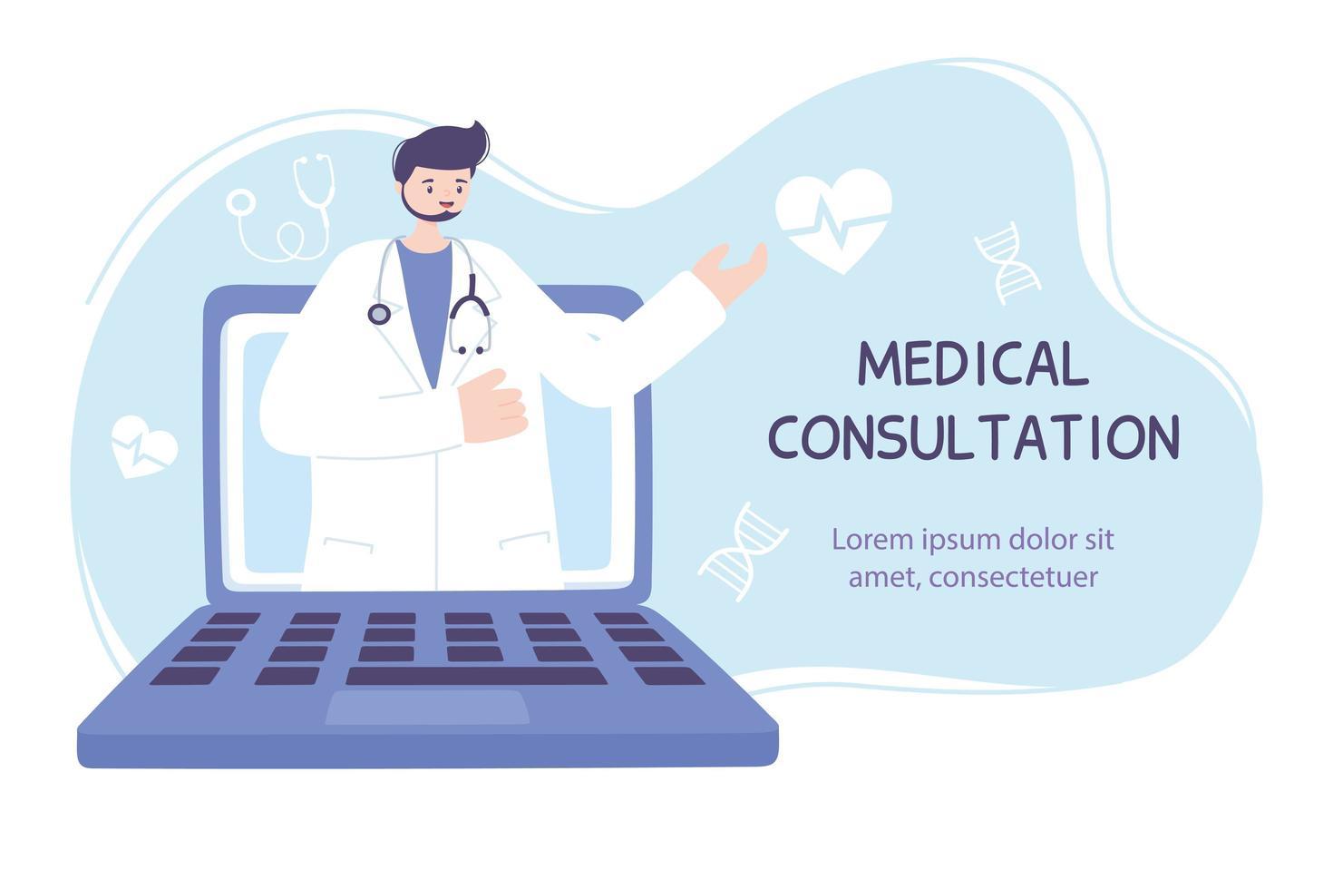 online gezondheidszorg sjabloon voor spandoek vector