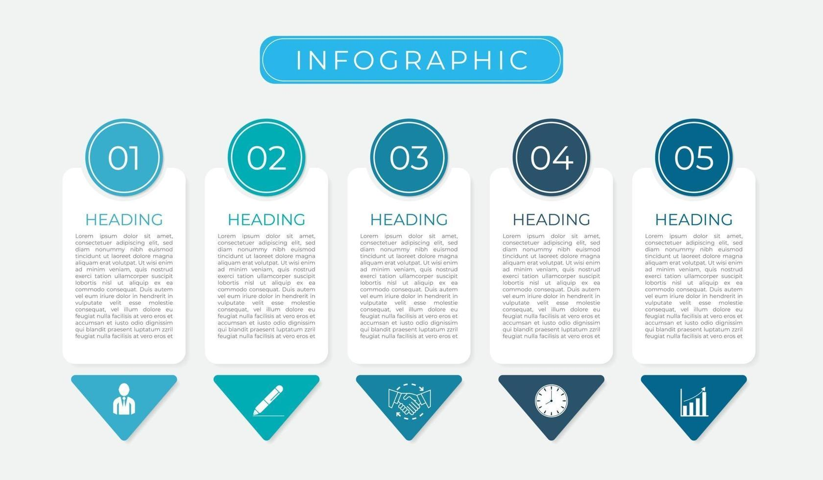 moderne infographic van businessplanpictogrammen vector