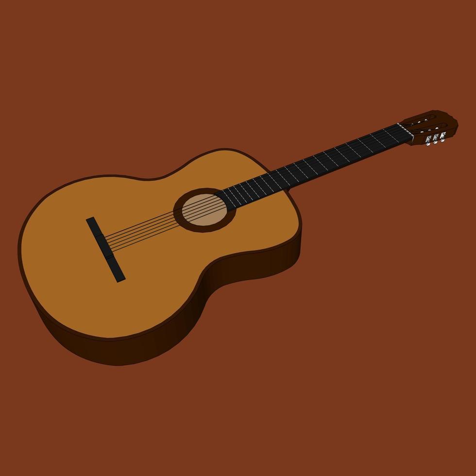 illustratie van een gitaar vector