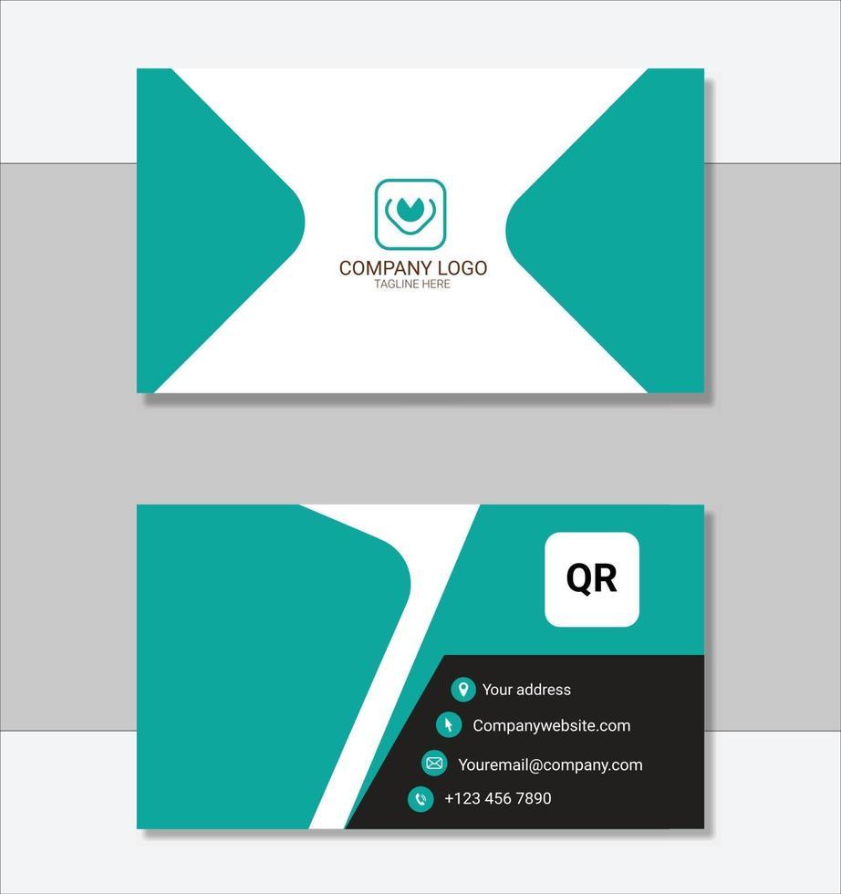schone professionele sjabloon voor visitekaartjes vector