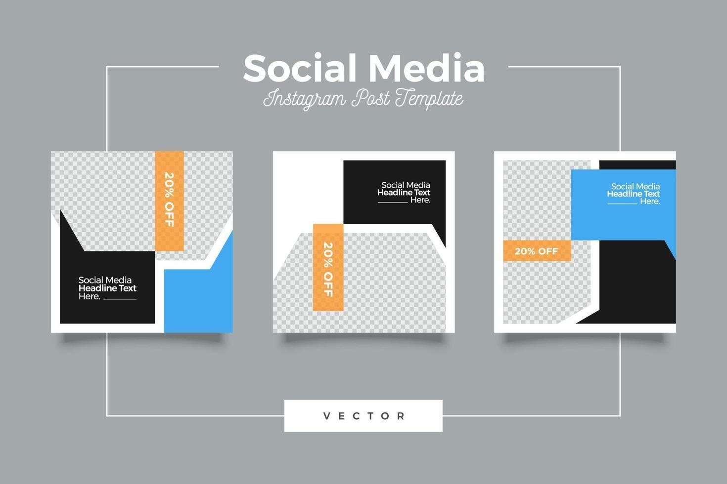 digitale verkoop moderne sociale media sjabloon banner set vector