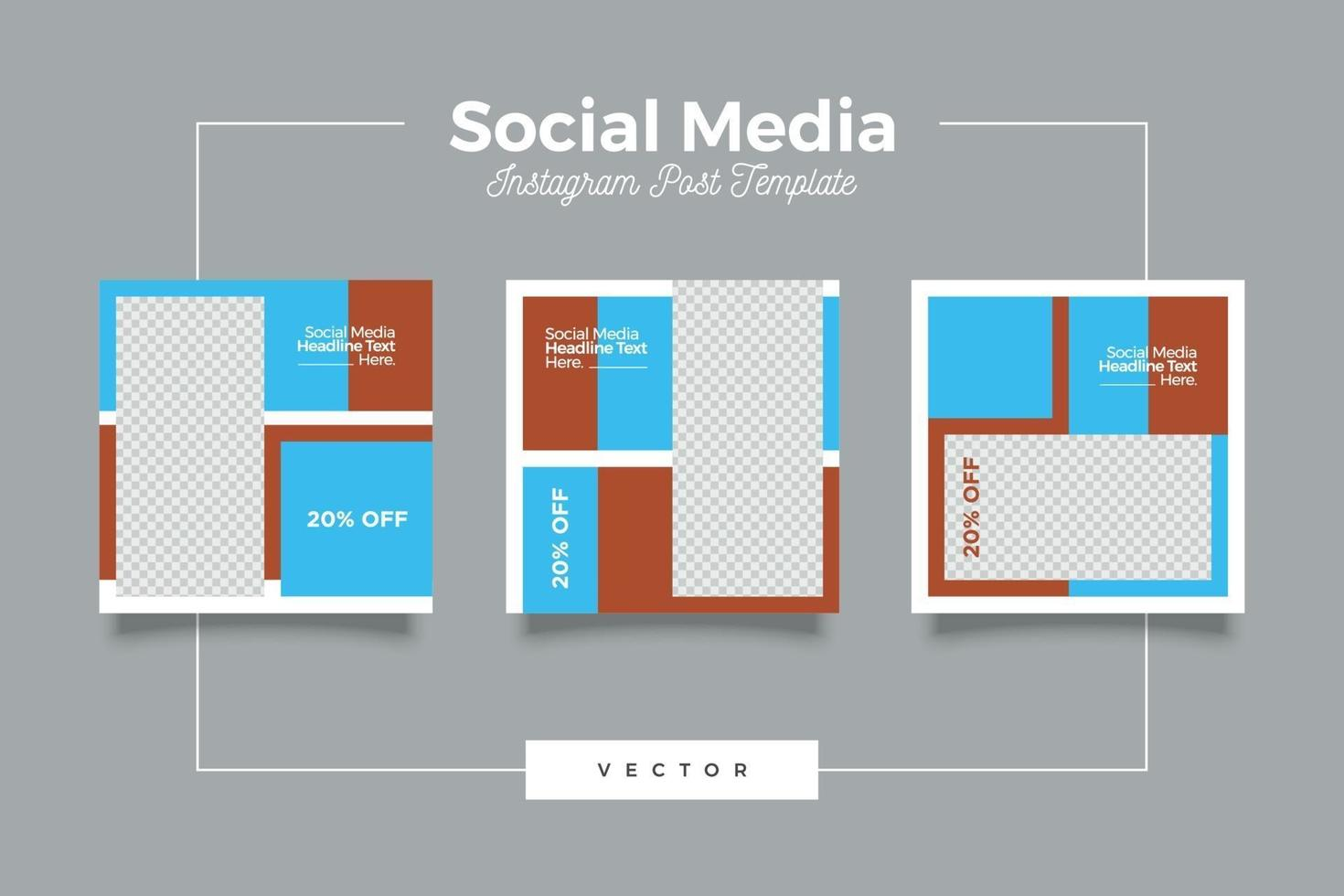 moderne sjabloon social media post banner bundel vector