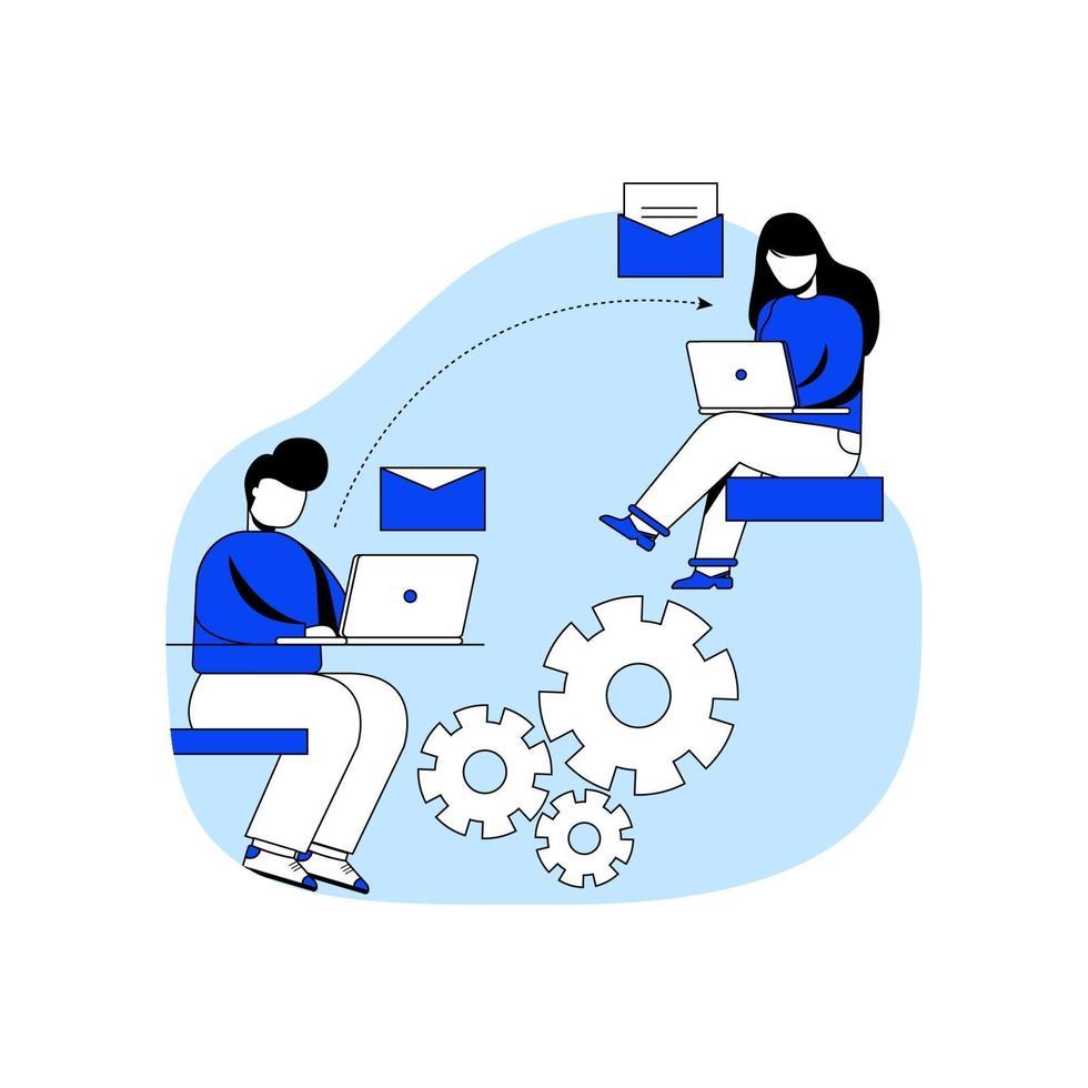 online communicatie pictogram concept vectorillustratie vector