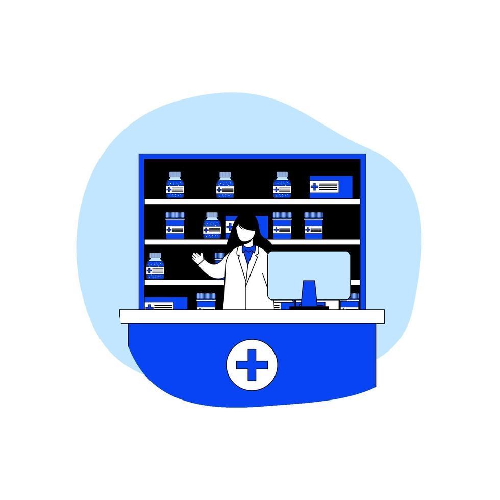 gezondheidszorg en apotheek pictogram concept vector