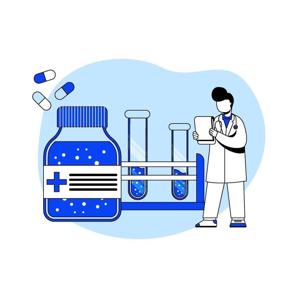geneeskunde en gezondheidszorg pictogram concept vector