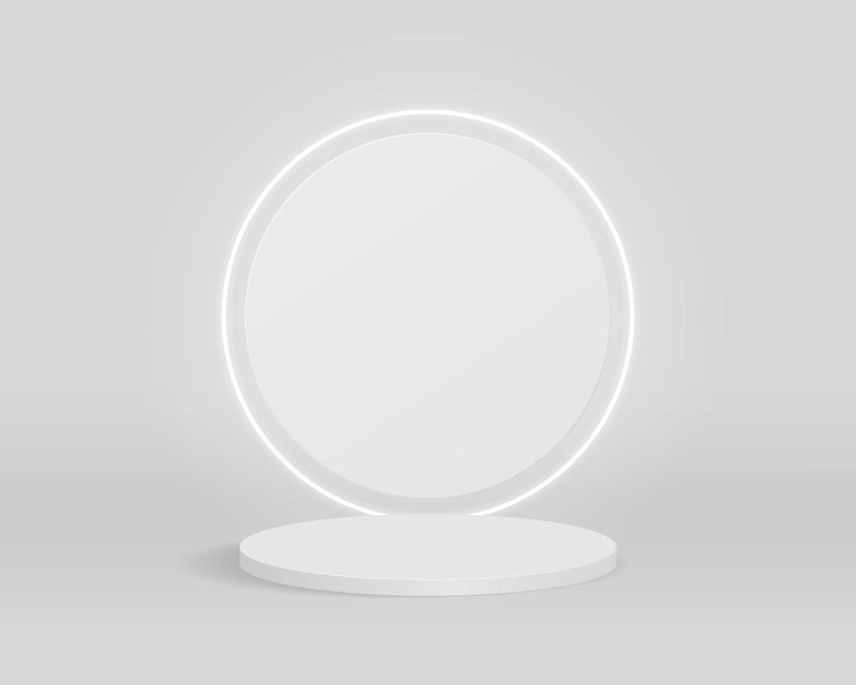 leeg cilinderpodium op minimale achtergrond. abstracte minimale scène met geometrische vormen. ontwerp voor productpresentatie. 3D-vector illustratie. vector