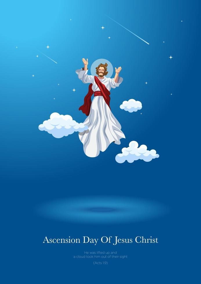 Hemelvaartsdag van Jezus Christus vector