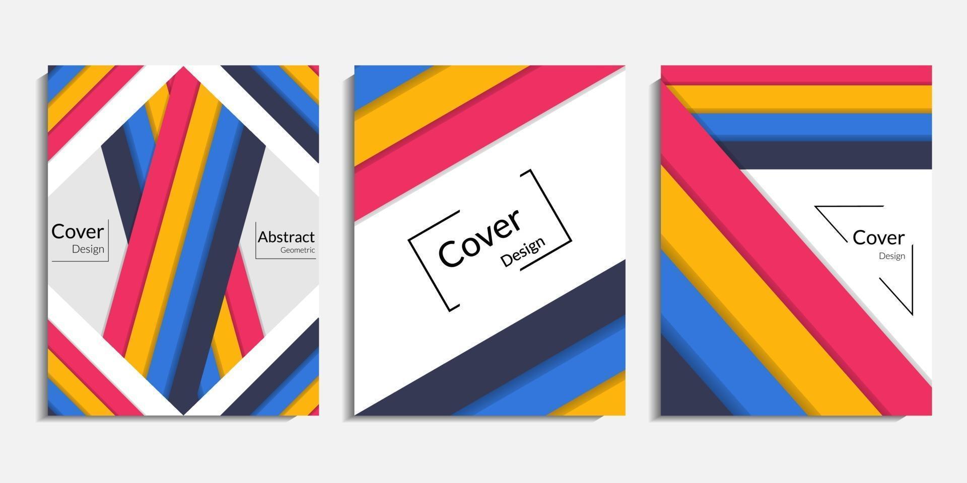 omslagontwerp, moderne abstracte minimalistische achtergrond vector