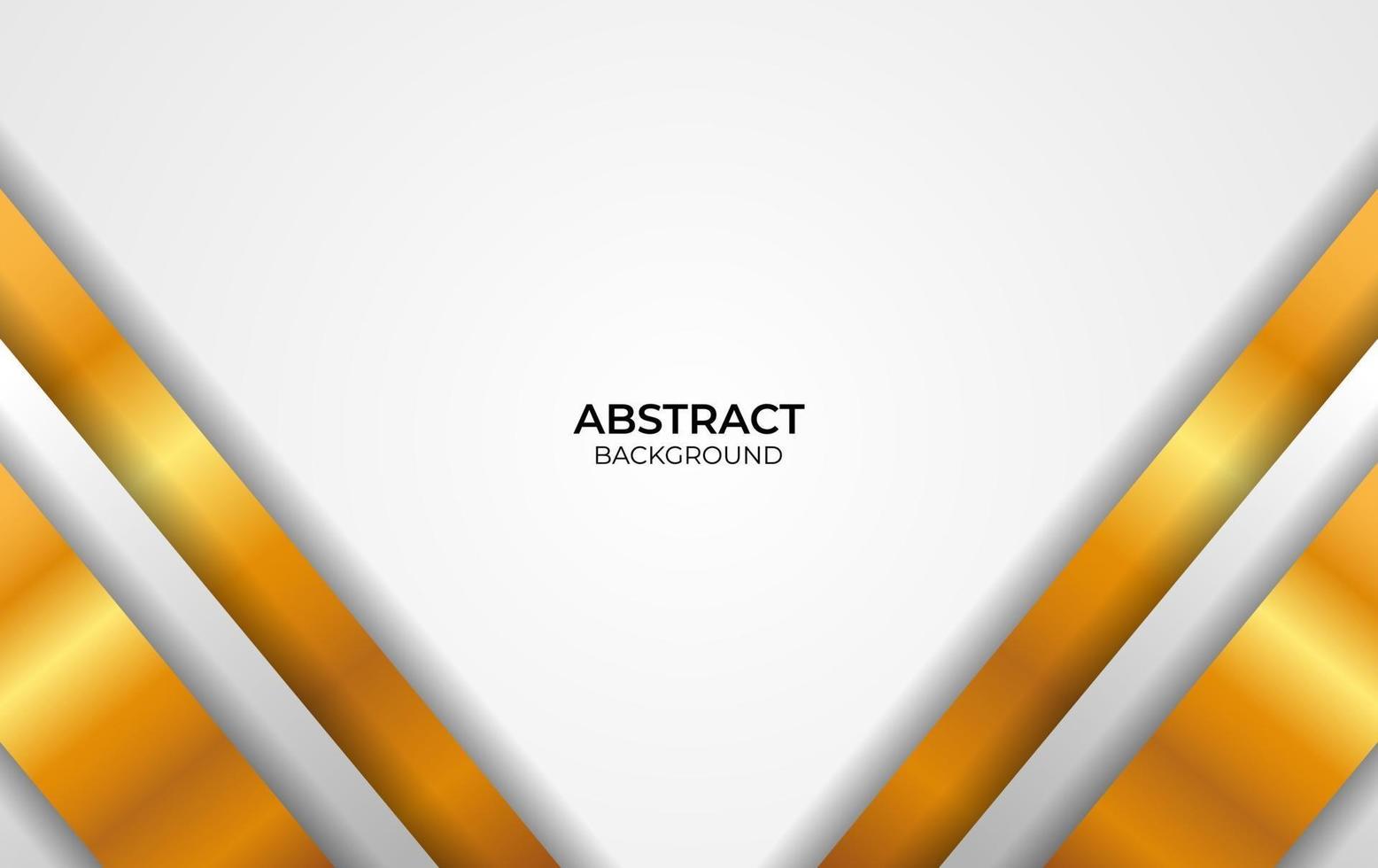 luxe stijl ontwerp witte en gouden achtergrond vector