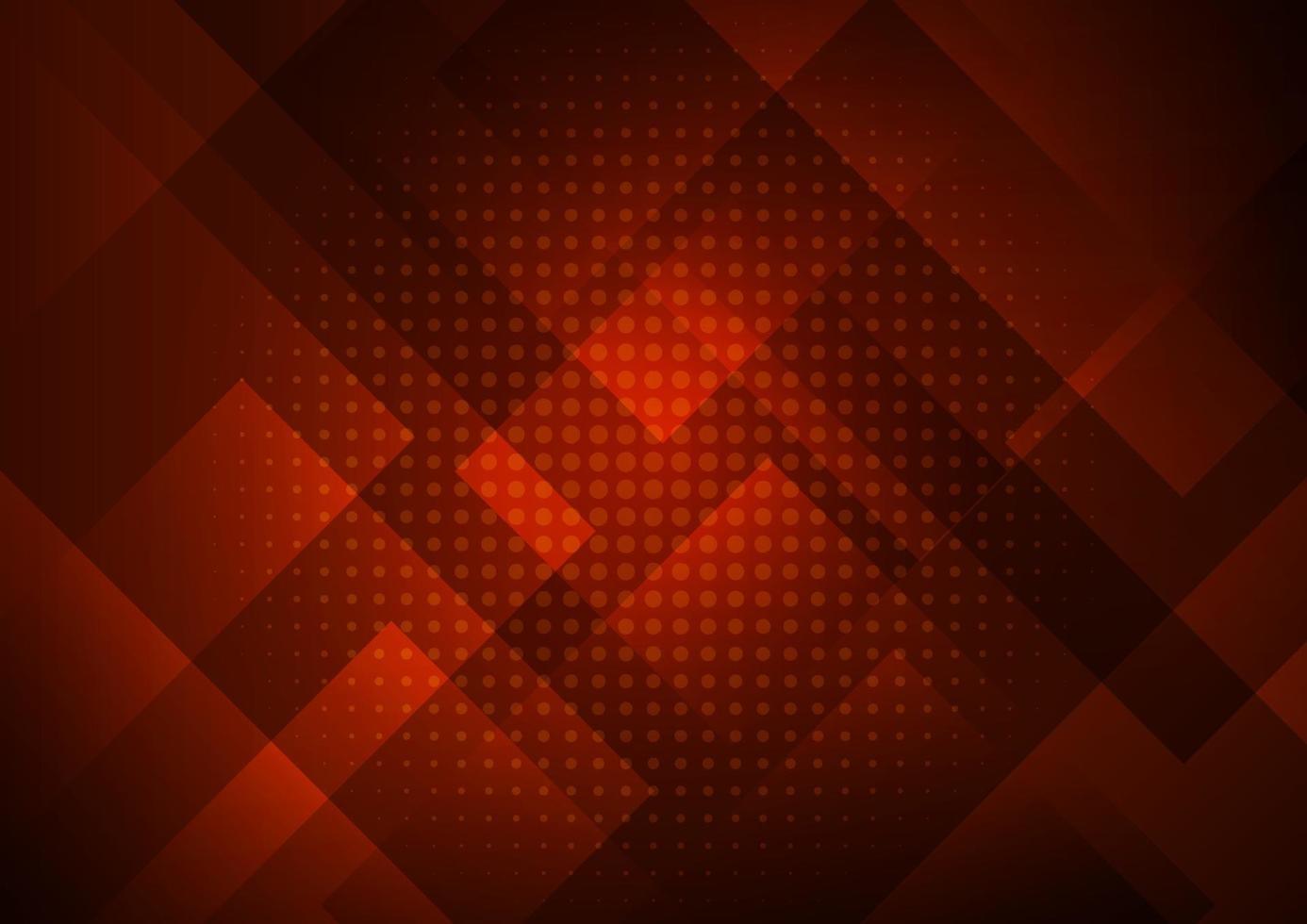 abstracte rode achtergrond met geometrische vierkante vormenlaag in transparant ontwerp en halftoon vector
