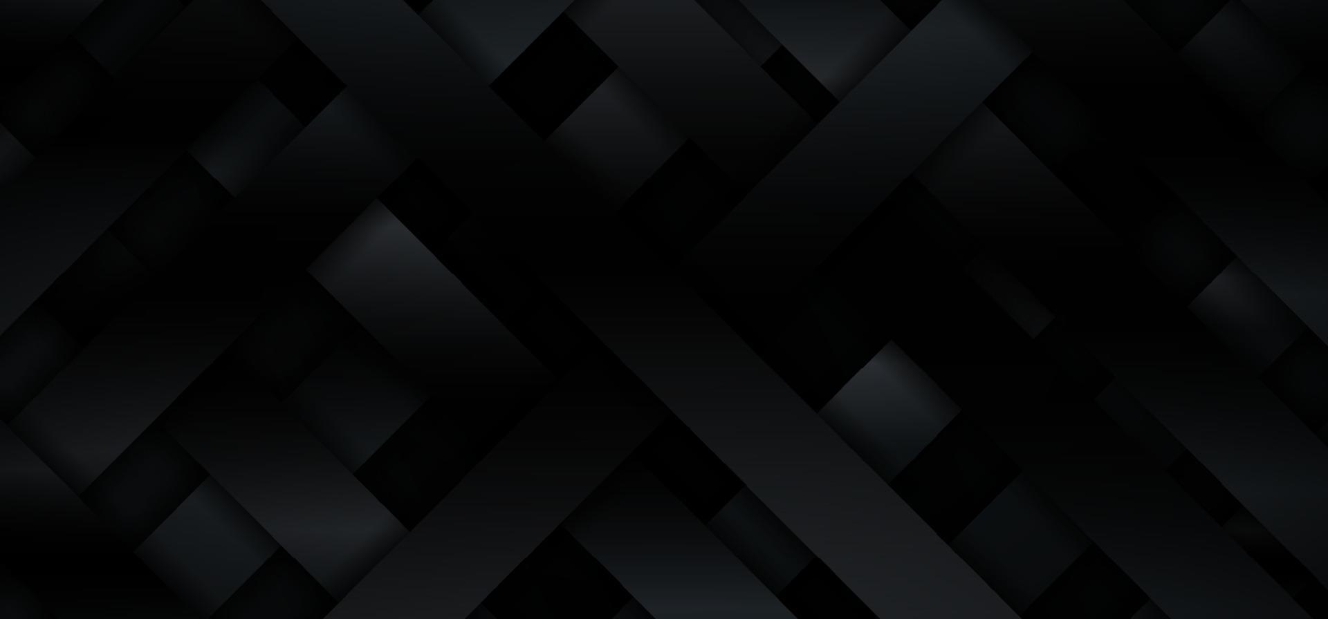 abstracte 3d zwarte gradiënt metallic diagonale strepen patroon weven achtergrond en textuur vector