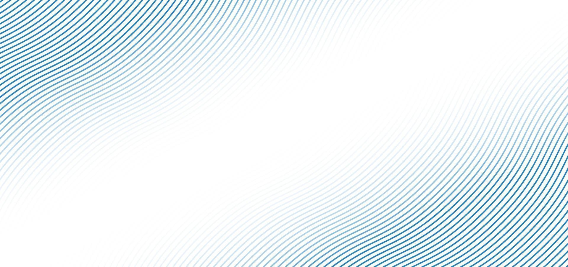 abstract blauw golflijnenpatroon op witte achtergrond met ruimte voor uw tekst vector