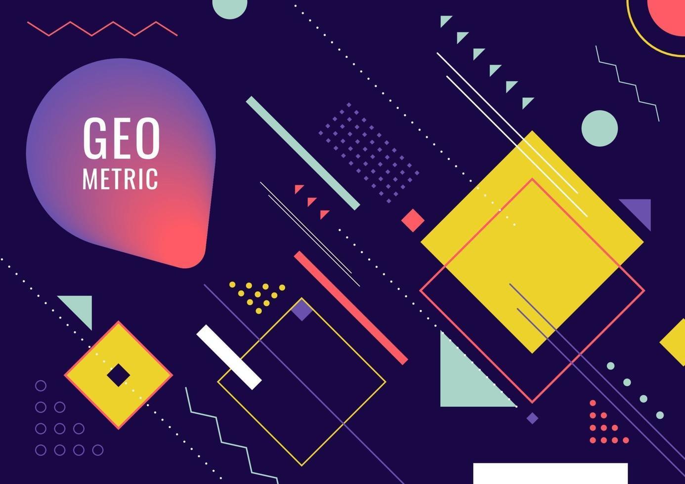 abstracte geometrische vorm lijn vorm hipster mode stijl achtergrond vector