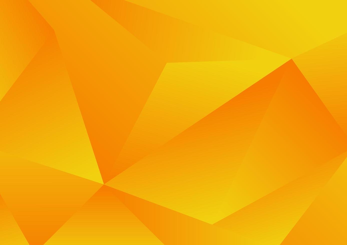 abstracte gele geometrische lage veelhoekachtergrond en textuur vector