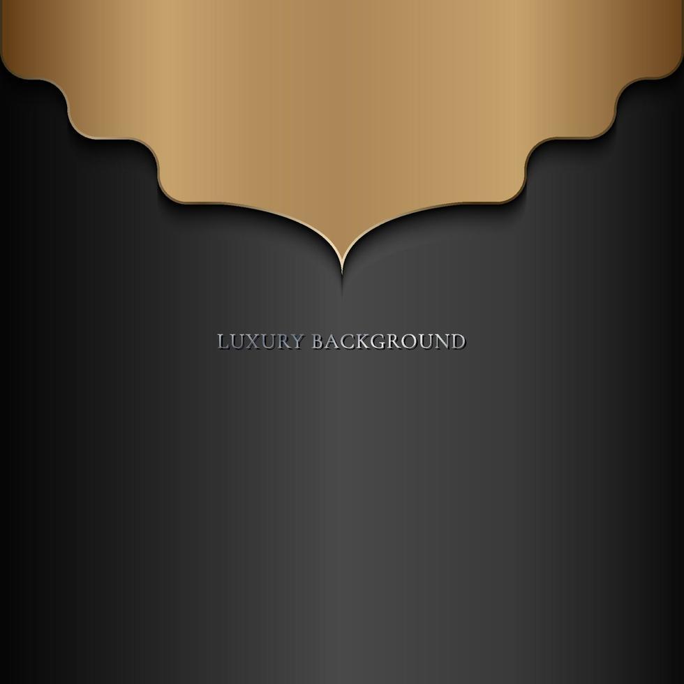 abstracte luxe mandala gouden arabesk Oost-stijl op zwarte achtergrond vector