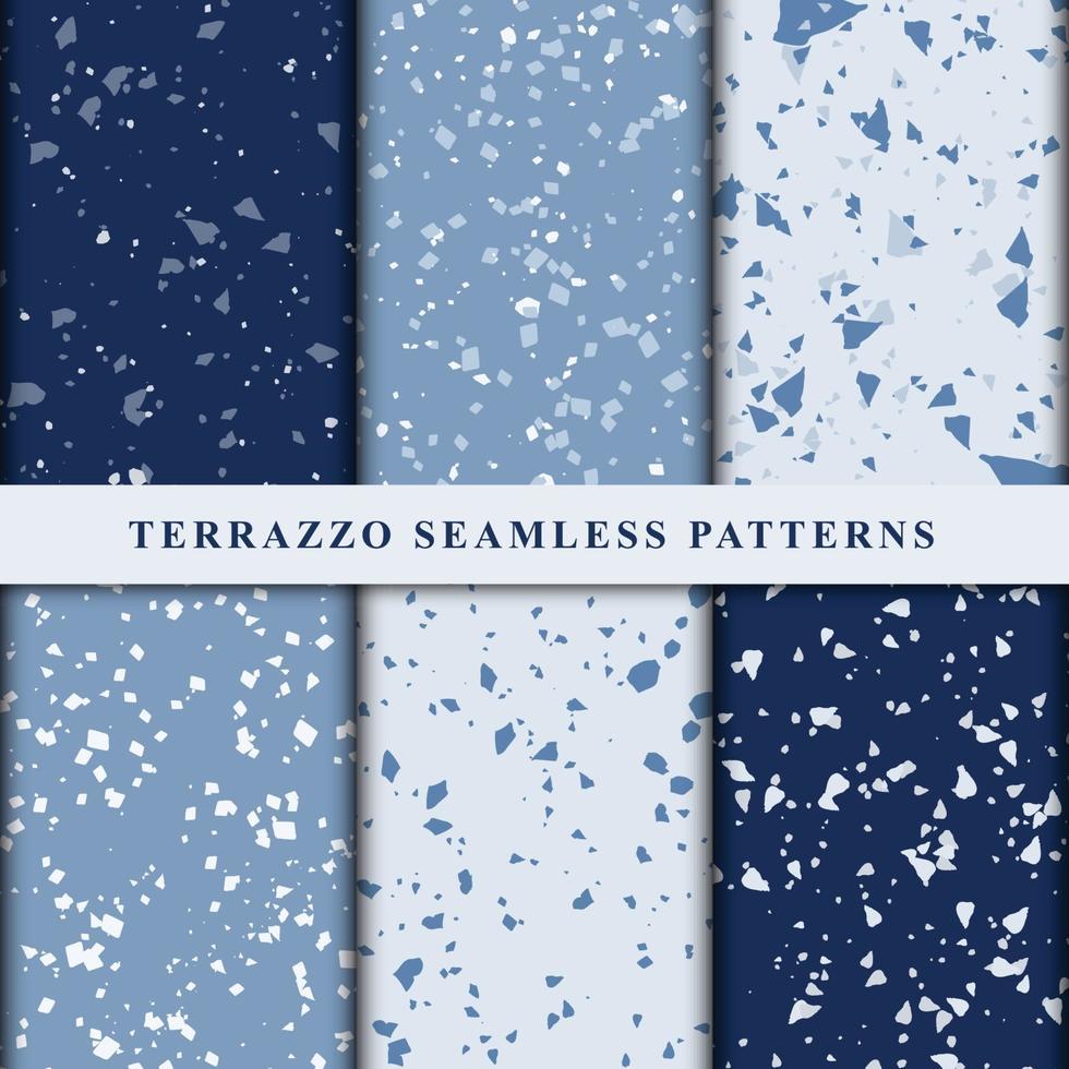 set van terrazzo Japanse stijl naadloze patronen. premium vector