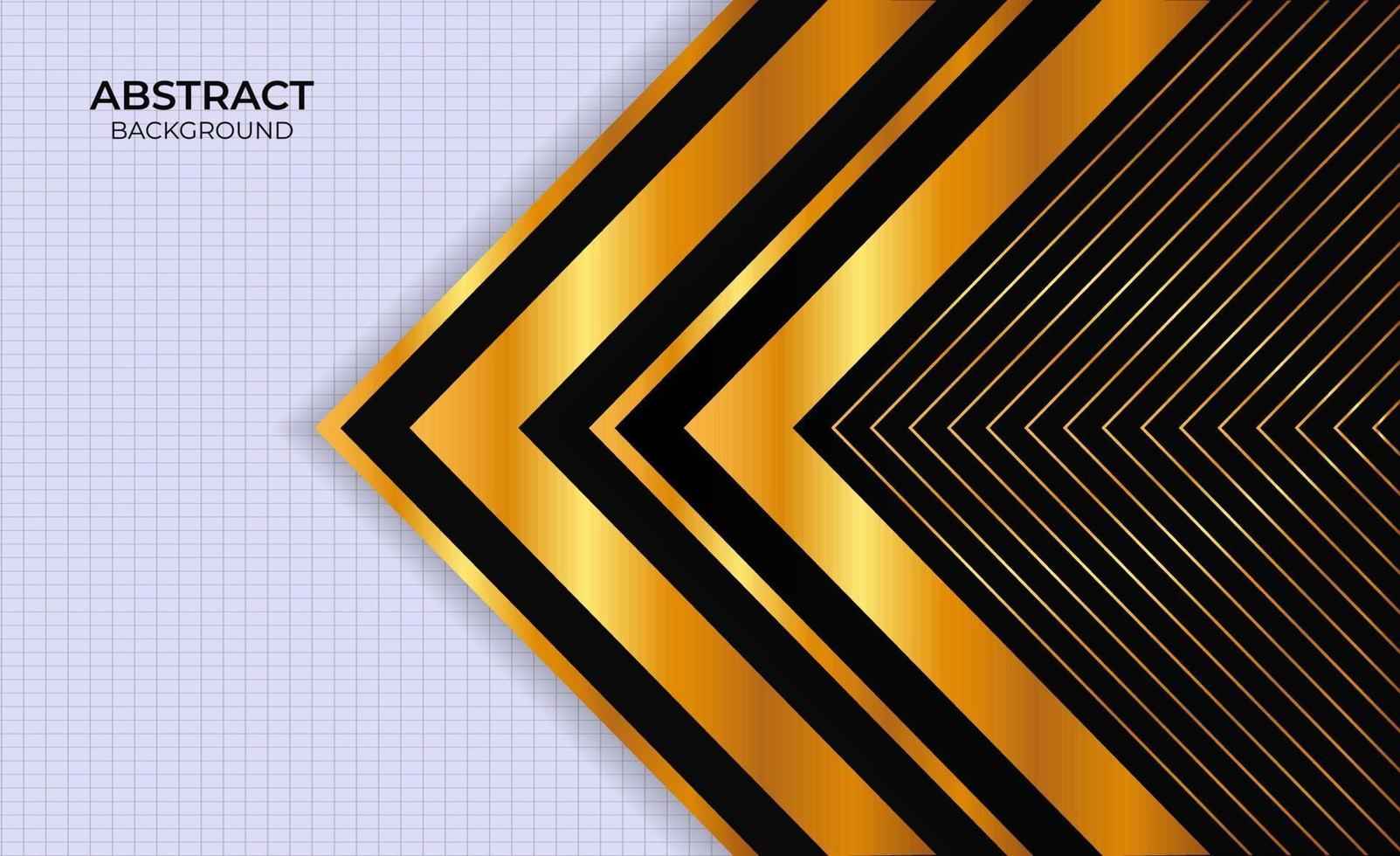 ontwerp achtergrond zwart en goud abstracte presentatie vector
