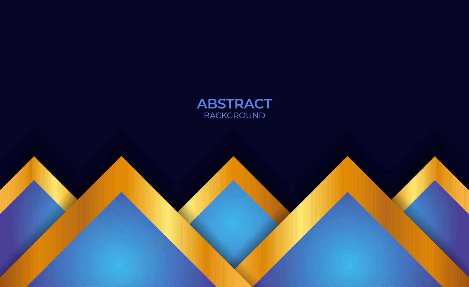 abstracte blauwe en gouden presentatieachtergrond vector