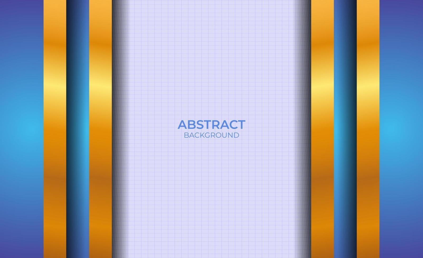 achtergrond blauw en goud abstracte presentatie vector