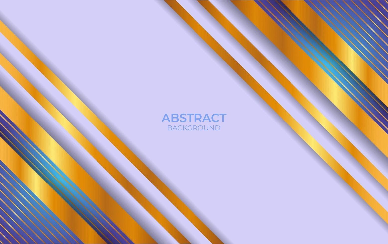 abstract blauw en goud ontwerp als achtergrond vector
