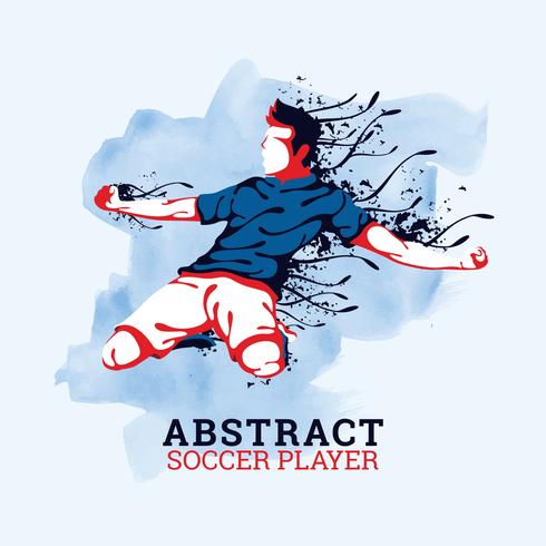 Abstracte voetballer vector