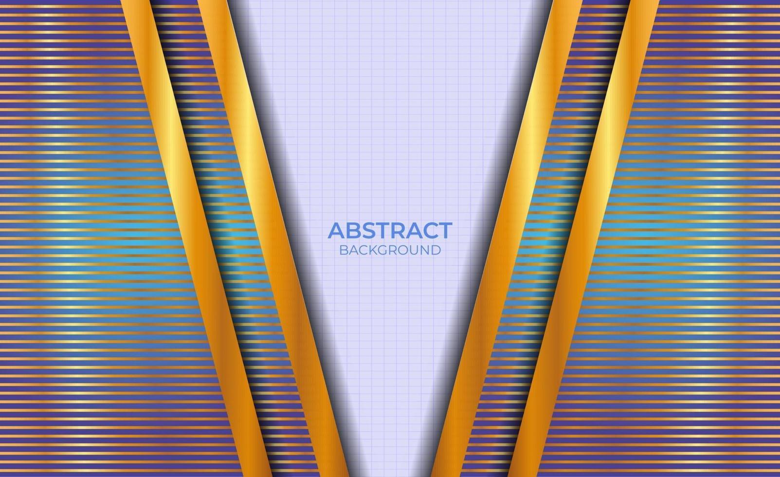 achtergrondontwerp abstract blauw en goud vector