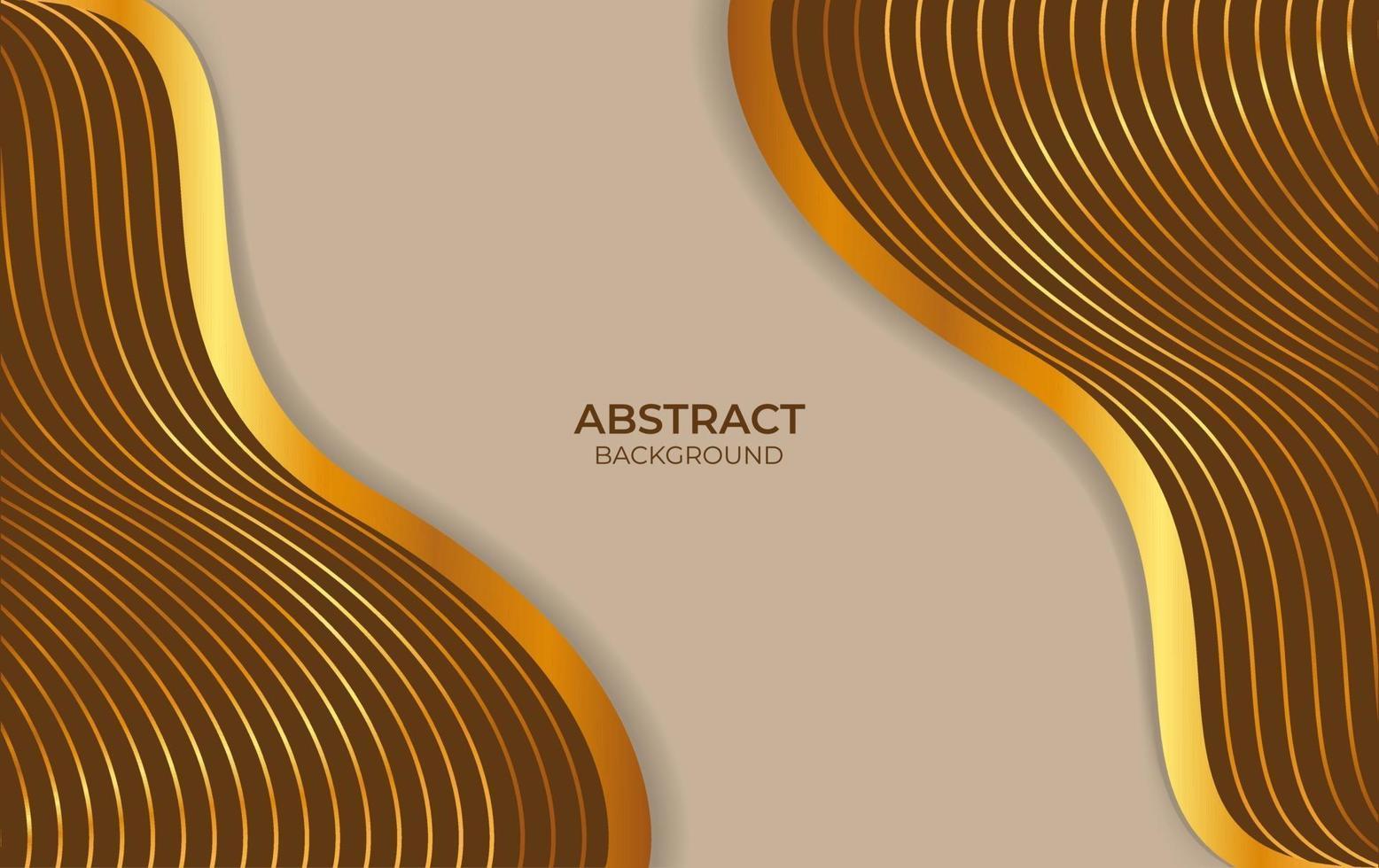 achtergrond abstract ontwerp bruin en goud vector