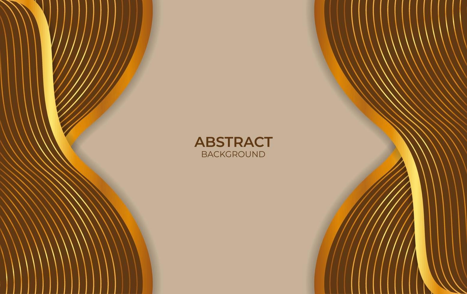 abstract ontwerp als achtergrond bruin en goud vector