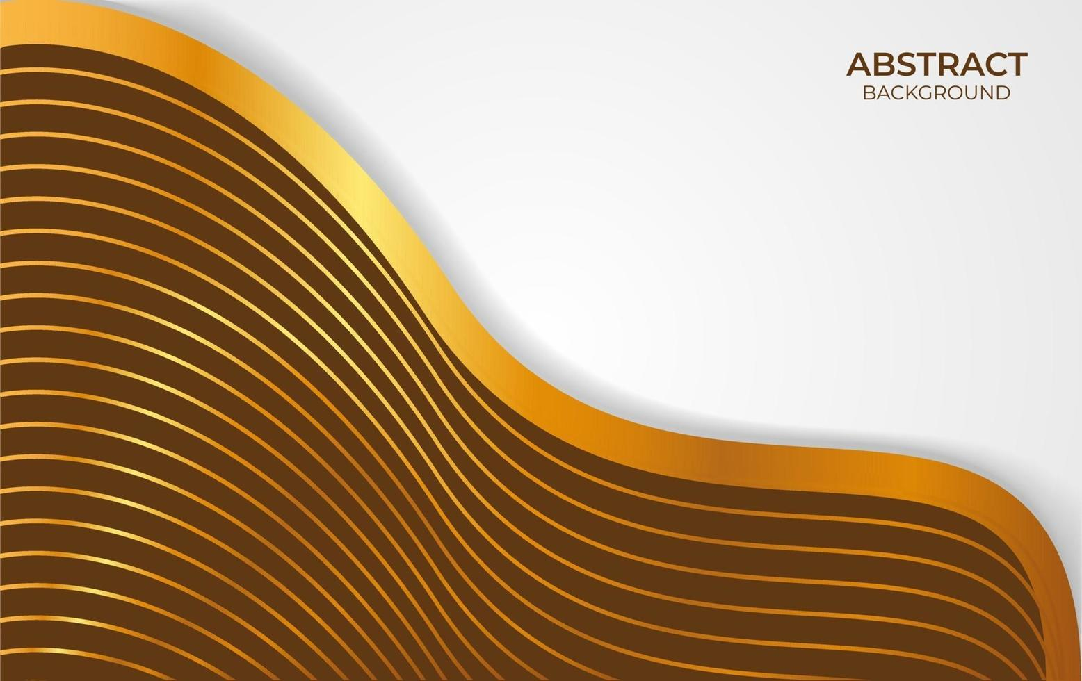 abstract achtergrond bruin en goud ontwerp vector