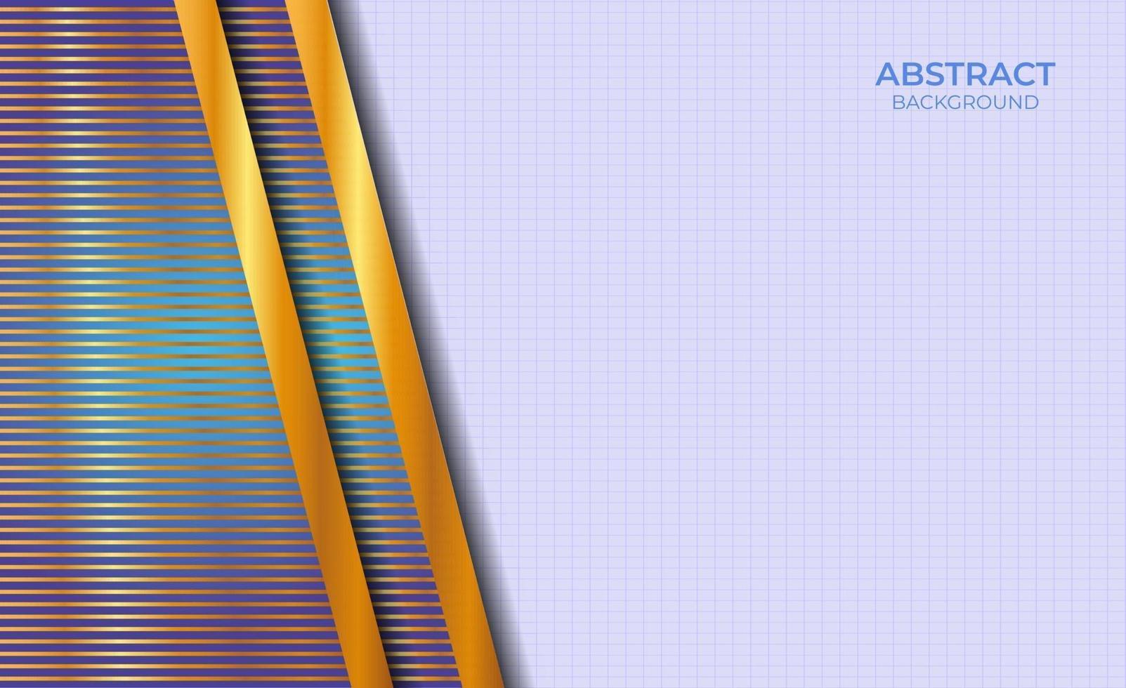 achtergrondontwerp abstracte stijl blauw en goud vector