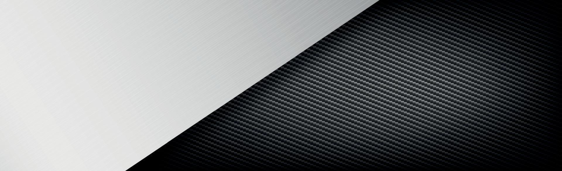 abstracte metalen en koolstofvezel textuur achtergrond - vector afbeelding